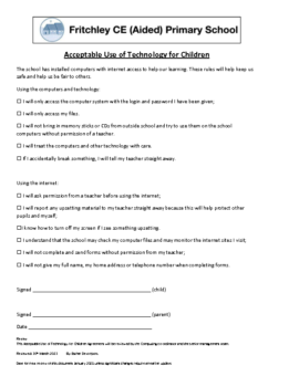 Acceptable Use Policy Children Mar 21